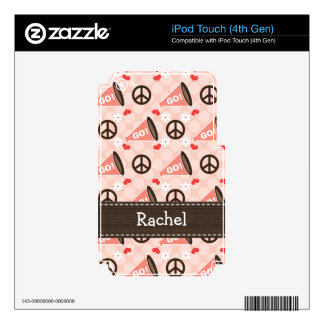 Peace Love Cheer Megaphone iPod Touch Skin 4th Gen