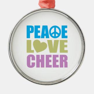 Peace Love Cheer Christmas Tree Ornament