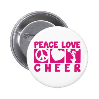 Peace Love Cheer Pinback Button