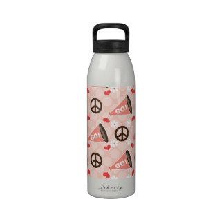 Peace Love Cheer Water Bottle BPA Free