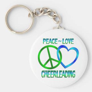 Peace Love CHEERLEADING Key Chain