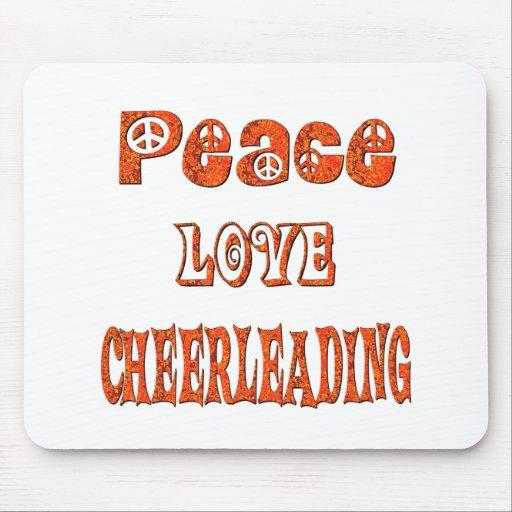 Peace Love Cheerleading Mouse Pad