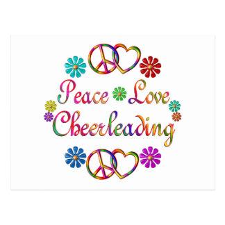 PEACE LOVE CHEERLEADING POST CARDS