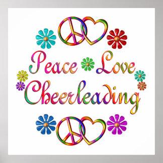 PEACE LOVE CHEERLEADING PRINT