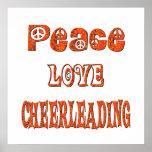 Peace Love Cheerleading Posters