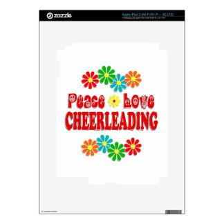 Peace Love Cheerleading iPad 3 Decal