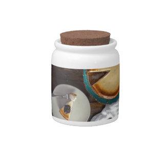 Peace Love Cheescake Candy Jars