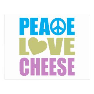 Peace Love Cheese Post Card