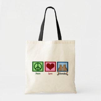 Peace Love Cheetahs Tote Bag
