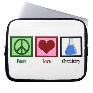 Peace Love Chemistry Computer Sleeve
