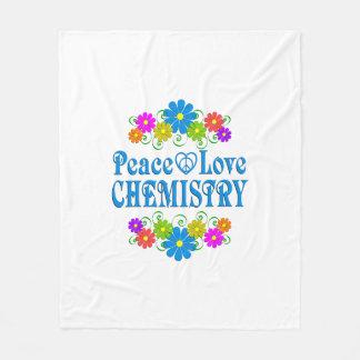 Peace Love Chemistry Fleece Blanket
