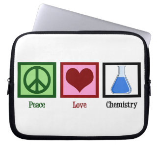 Peace Love Chemistry Laptop Computer Sleeves