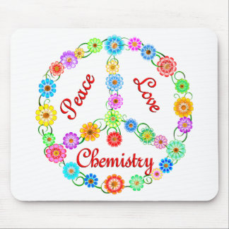 Peace Love Chemistry Mouse Pad