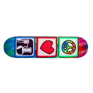 Peace, Love,  Chemistry Skate Boards