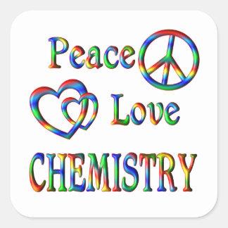 Peace Love CHEMISTRY Square Sticker