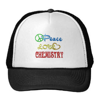 PEACE LOVE CHEMISTRY TRUCKER HAT
