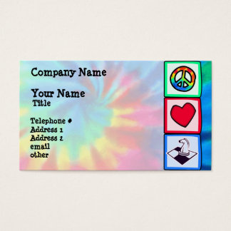 Peace, Love, Chess Business Card