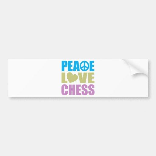 Peace Love Chess Car Bumper Sticker