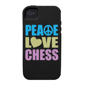 Peace Love Chess iPhone 4 Cases