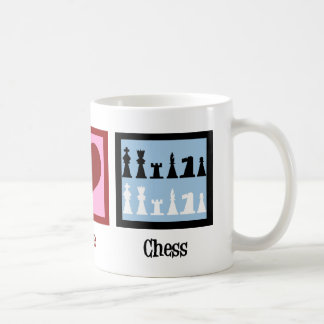 Peace Love Chess Coffee Mug
