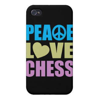Peace Love Chess iPhone 4/4S Case