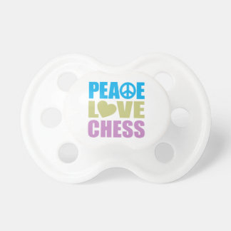 Peace Love Chess Baby Pacifier