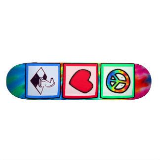 Peace Love Chess Skate Board Deck