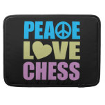 Peace Love Chess Sleeves For MacBooks