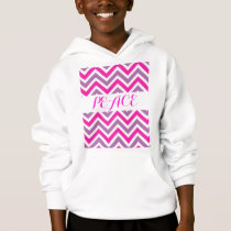 Peace Love Chevrons Stripes Pattern Pink Purple Hoodie