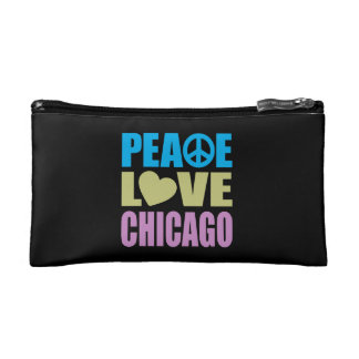 Peace Love Chicago Cosmetic Bag