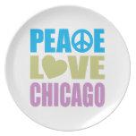 Peace Love Chicago Dinner Plates
