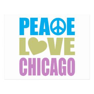 Peace Love Chicago Postcards