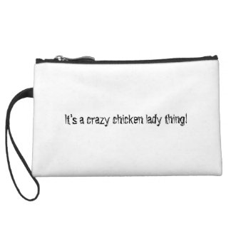 Peace Love Chicken Wristlet Wallet