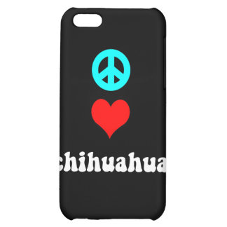 peace love chihuahua case for iPhone 5C