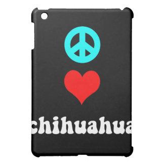peace love chihuahua iPad mini case