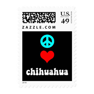 Peace love Chihuahua Postage