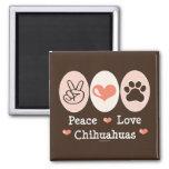 Peace Love Chihuahuas Magnet
