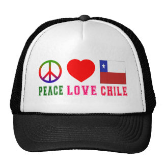 Peace Love Chile Mesh Hats
