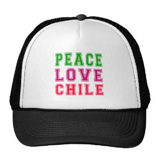 Peace Love Chile. Trucker Hat