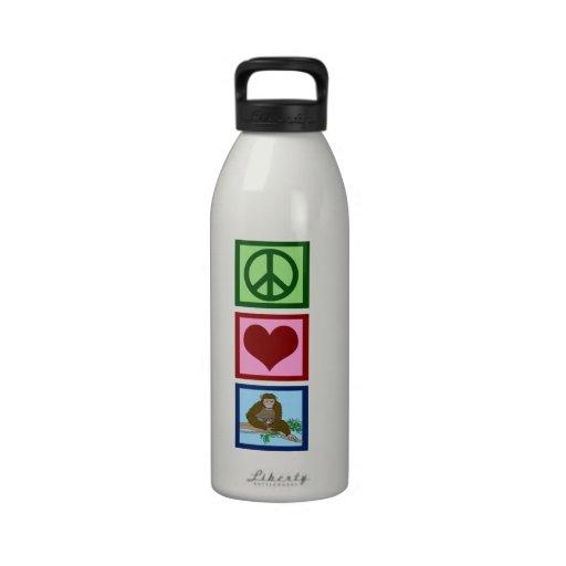 Peace Love Chimpanzees Drinking Bottles