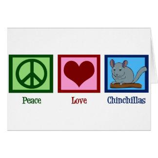 Peace Love Chinchillas Greeting Card