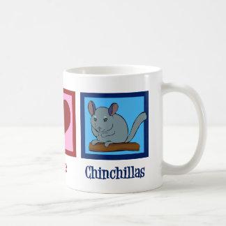 Peace Love Chinchillas Coffee Mug