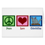 Peace Love Chinchillas Greeting Card