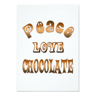PEACE LOVE CHOCOLATE CARD