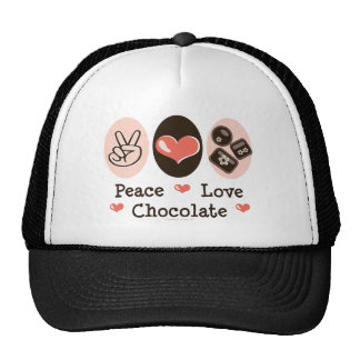 Peace Love Chocolate Hat