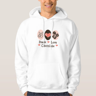 Peace Love Chocolate Hooded Sweatshirt