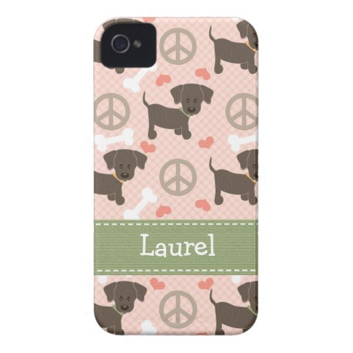 Peace Love Chocolate Lab 4 4s Case-Mate Cover
