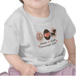 Peace Love Chocolate Labs Baby T-shirt