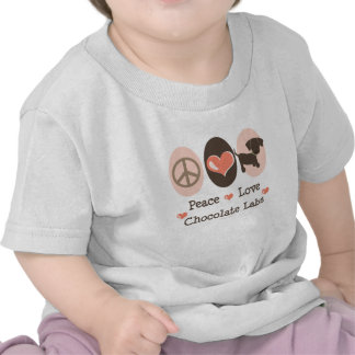 Peace Love Chocolate Labs Baby T-shirt