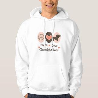 Peace Love Chocolate Labs Hooded Sweatshirt